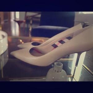 Nude Burberry Heels